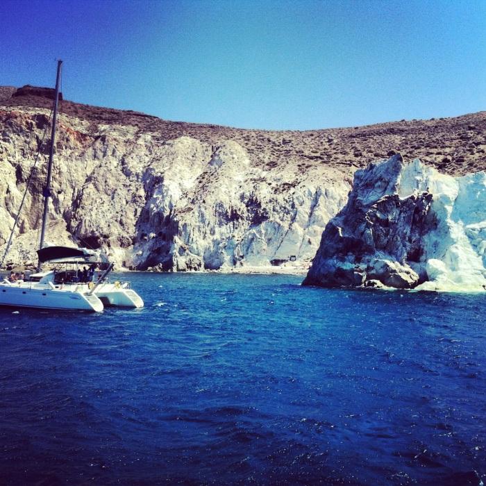 Boat ride in Santorini