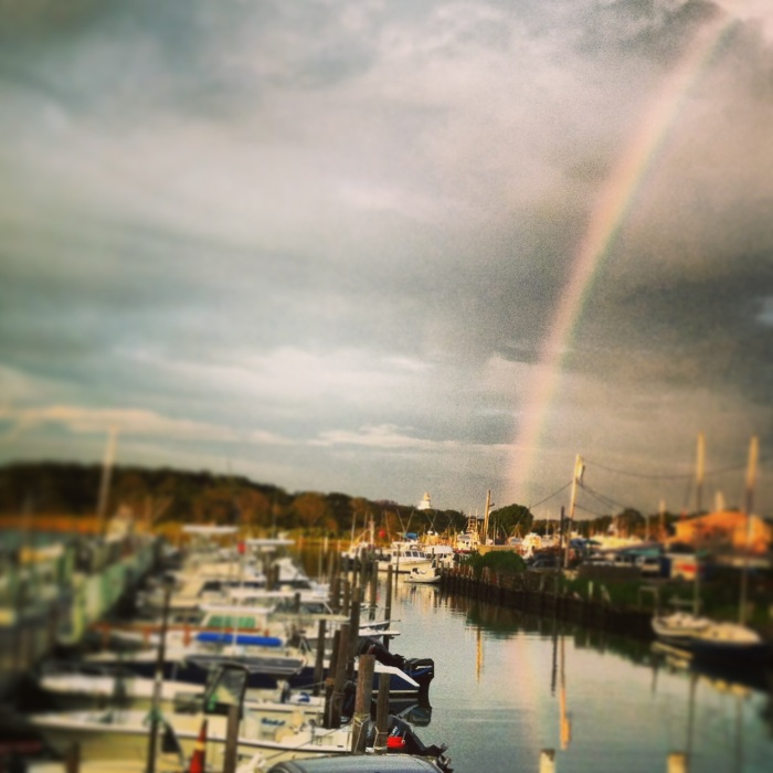Rainbow at the Hideaway in Montauk