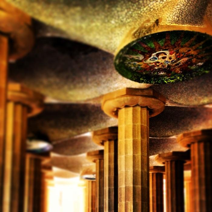 Inside Park Guell Barcelona