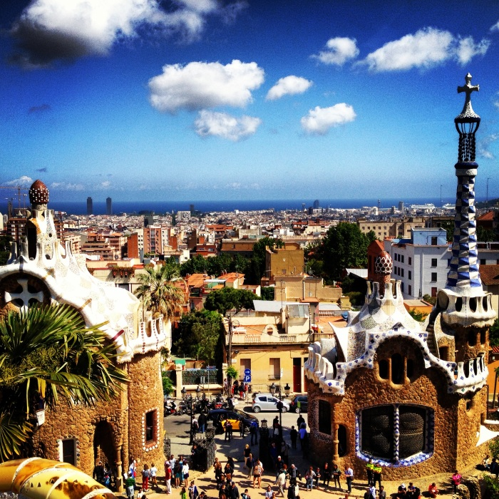 View from Park Guell in Barcelona