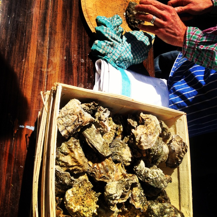 Oyster Shucking at Jones Dairy Cafe