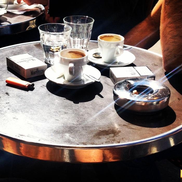 Breakfast in Montmarte - espresso and cigarettes