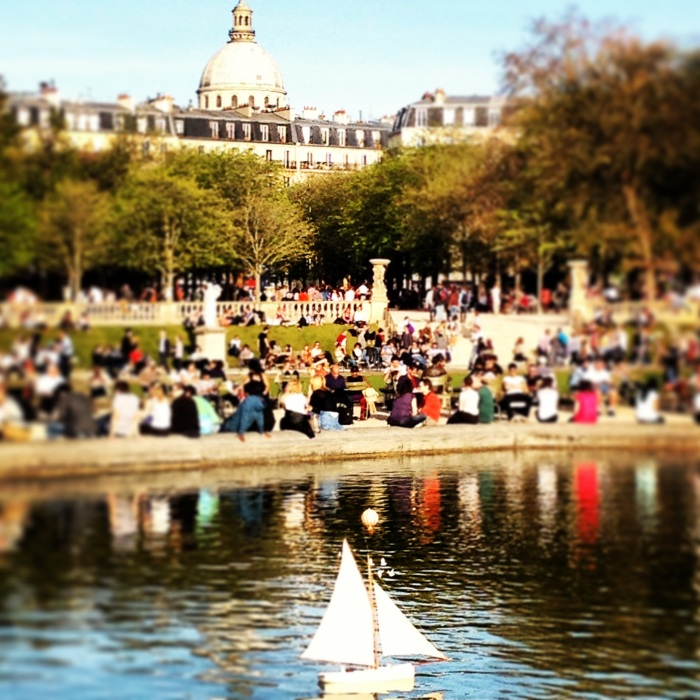 Sailboats in Luxembourg Gardens