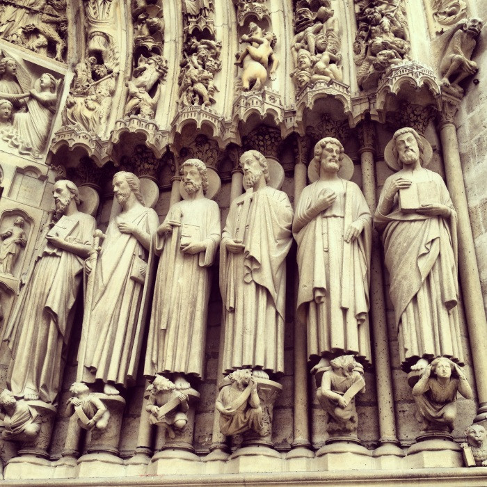 Intricate Details on Notre Dame