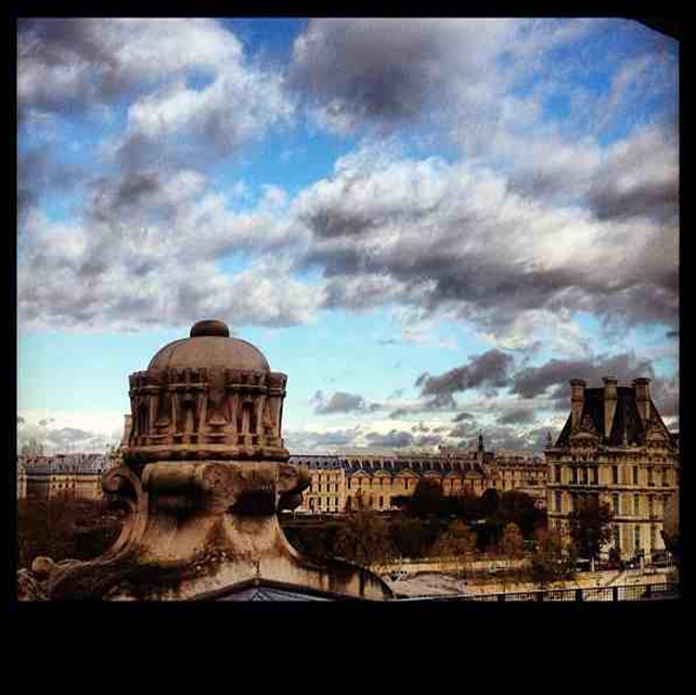 Louvre view from Musee D'Orsay